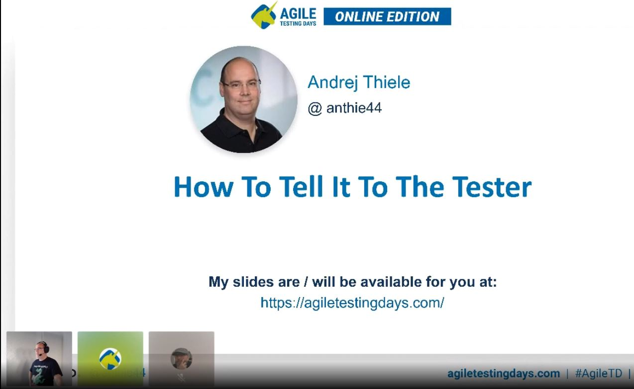 How To Tell It To The Tester
