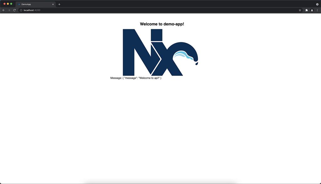 Nx Willkommen mit JSON-Objekt