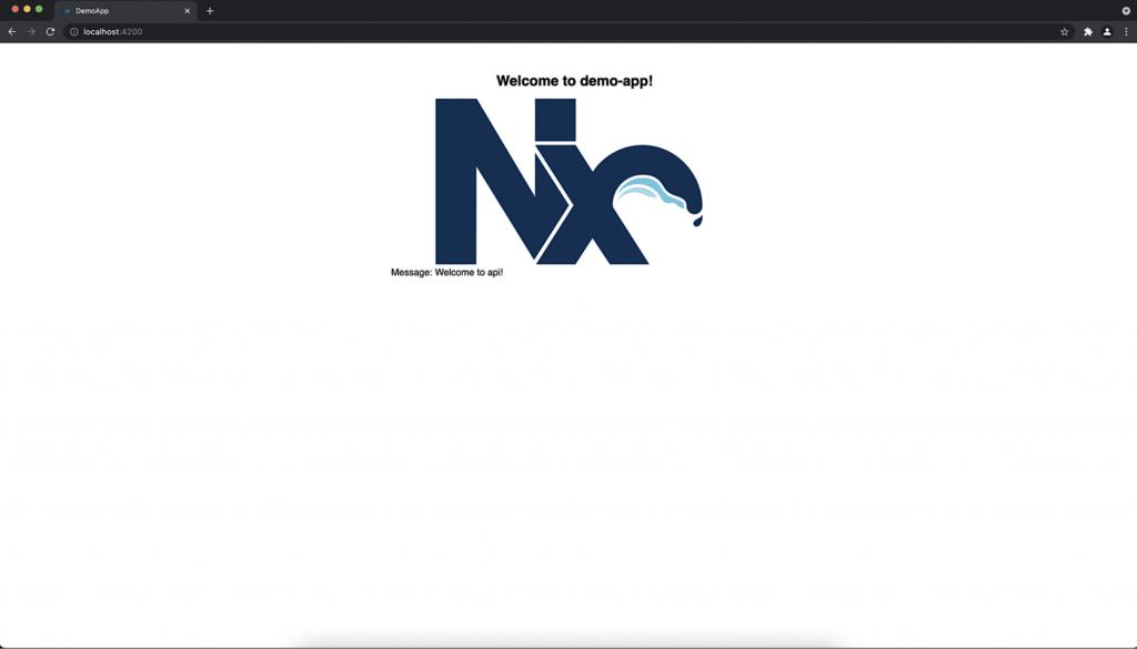 Nx Willkommen mit Nachricht