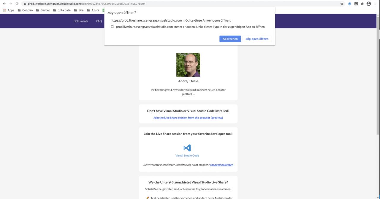 VS Code Browser Sharing Selection